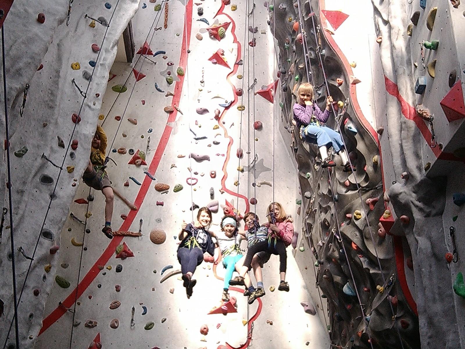 Na trénink lezení i pro pobavení